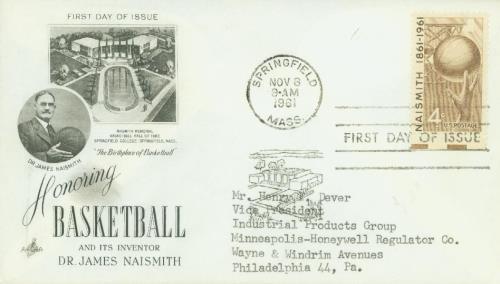 1961 4c Basketball, Naismith 100th Birth Anniversary