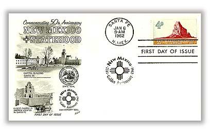 1962 4c New Mexico Statehood