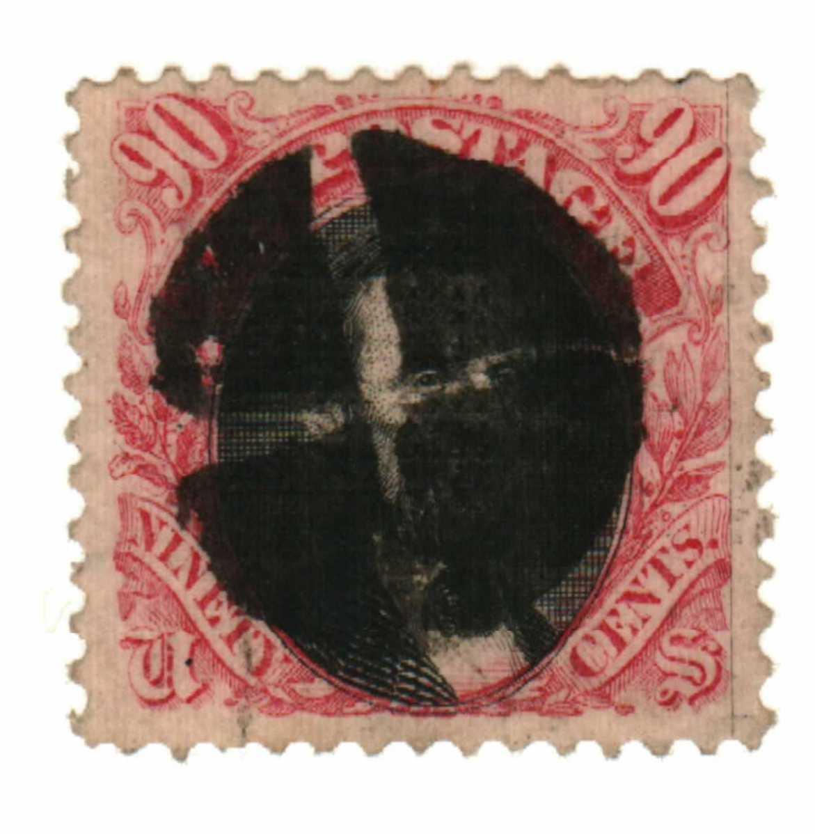 1869 90c Lincoln, carmine and black