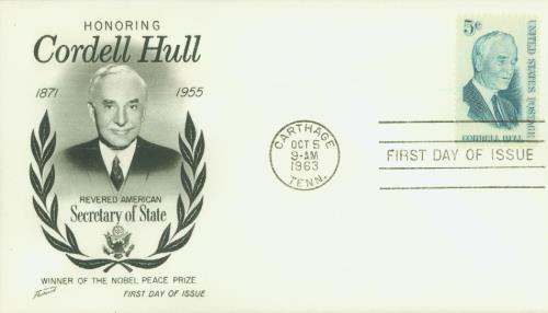 U.S. #1235 FDC – 1963 Hull First Day Cover.