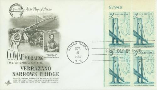 U.S. #1258 – 1964 Verrazano Bridge First Day Cover.