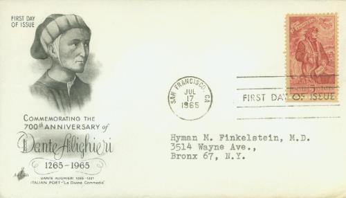 1965 5c Dante Alighieri
