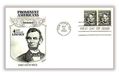 1965 4c Prominent Americans: Abraham Lincoln