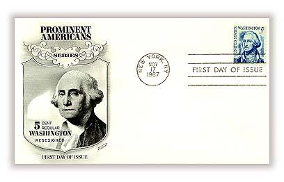 1967 5c George Washington, redrawn