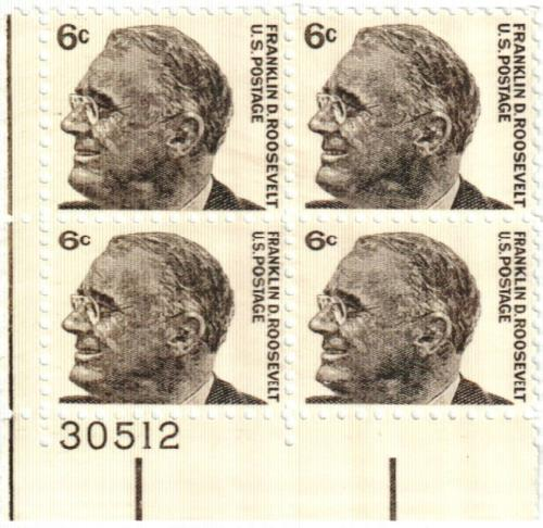 1966 6c Prominent Americans Franklin D Roosevelt For Sale