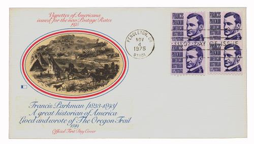 1975 3c Prominent Americans: Francis Parkman, perf 10 horizontal