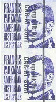 1975 3c F.Parkman, Imperf. Pair