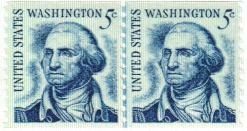 1966 5c Prominent Americans: George Washington, perf 10 vertical