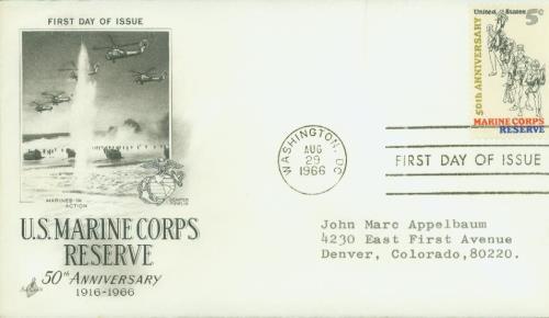 1966 5c Marine Corps Reserve