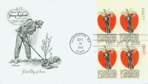 U.S. #1317 FDC – Johnny Appleseed First Day Cover.