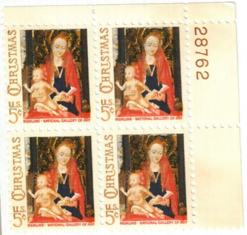 1966 5c Christmas Madonna And Child For Sale At Mystic Stamp Company