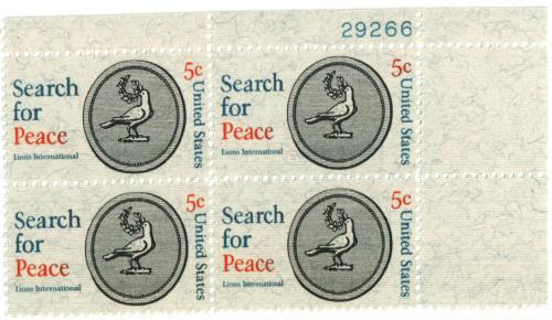 1967 5c Search for Peace, Lions International