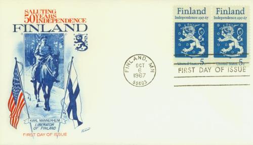 1967 5c Finnish Independence