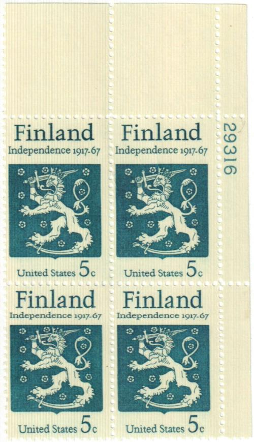 1967 5c Finnish Independence