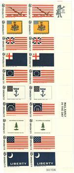 1968 6c Historic American Flags