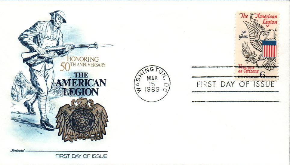 U.S. #1369 FDC – 1969 American Legion First Day Cover.