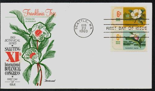 1969 6c Ladyslipper-Franklinia Tree Combo Cvr