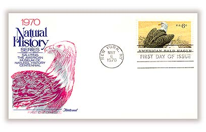 1970 6c Natural History: American Bald Eagle