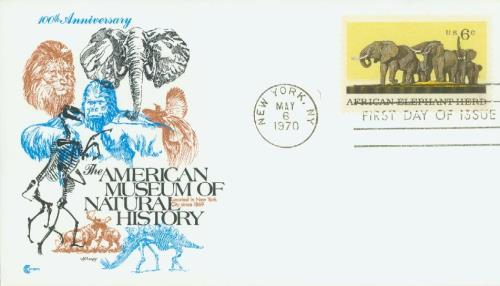 1970 Natural History/African Elephant 6c