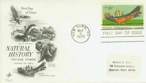 1970 Natural History/Haida Canoe 6c
