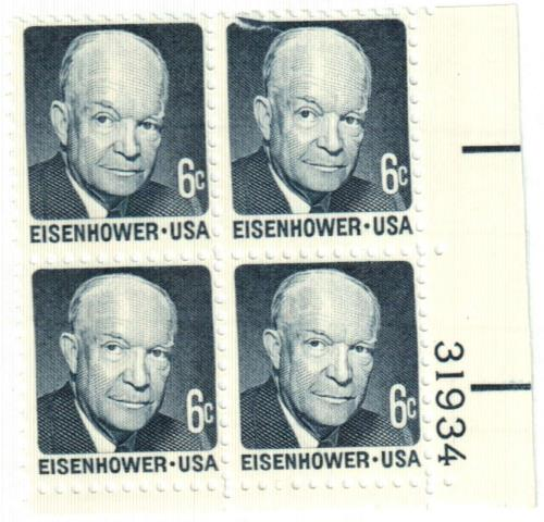 1970 6c Dwight D Eisenhower For Sale At Mystic Stamp Company