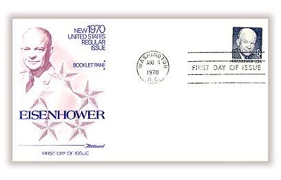 1970 6c D.Eisenhower,bklt pane (5+label)