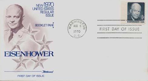 1970 6c D.D Eisenhower bklt single