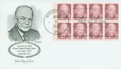 1970-74 8c D.D. Eisenhower,bklt pane (8)