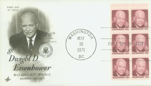 1970-74 8c D.D. Eisenhower,bklt pane (6)