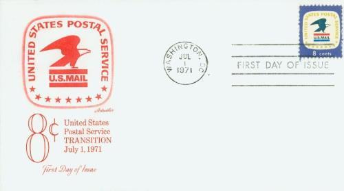 1971 8c U.S. Postal Service Emblem