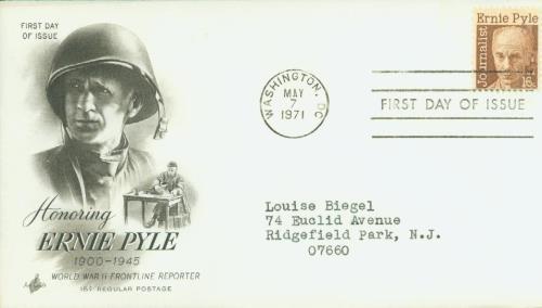 1971 16c Ernest Taylor Pyle