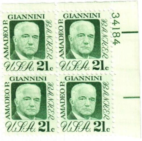 1973 21c Amadeo P. Giannini