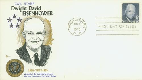 1970 6c D.D. Eisenhower, Rotary Perf 10V