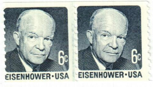 1970 6c Dwight D. Eisenhower, blue grey