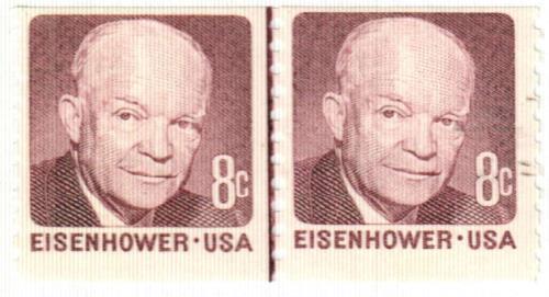1971 8c Dwight D. Eisenhower, deep claret