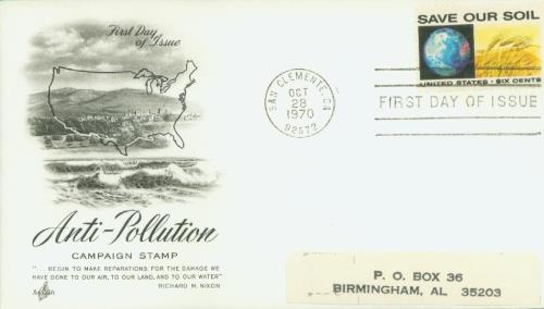 1970 6c Anti-Pollution Issue/Globe/Wheat