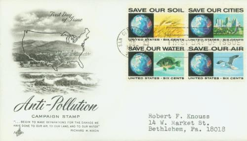 1970 6c Anti-Pollution 4 stamps
