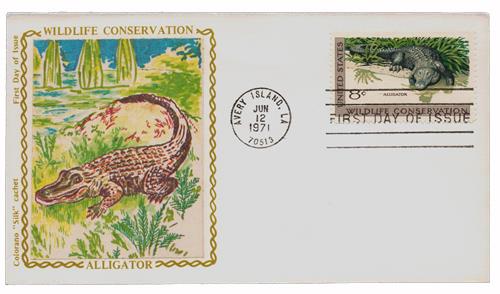 1971 8c Wildlife Conservation: Alligator