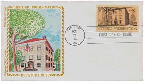 1971 8c Historic Preservation: Decatur House