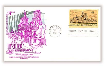 USA on Historic Preservation Stamp 1971