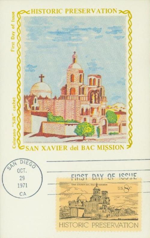1971 8c Historic Preservation: San Xavier Del Bac Mission
