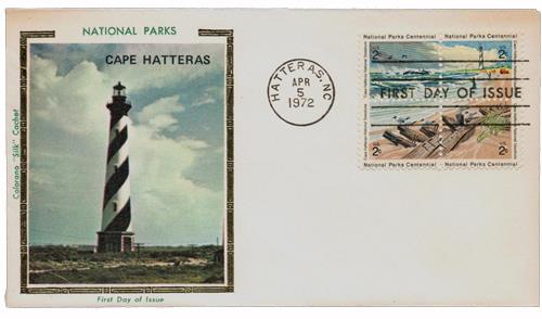 1972 2c National Parks Centennial: Cape Hatteras National Seashore