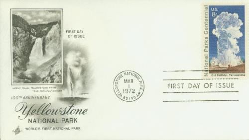 1972 8c Old Faithful, Yellowstone Park