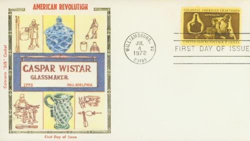 1972 8c Colonial American Craftsmen: Glassmaker