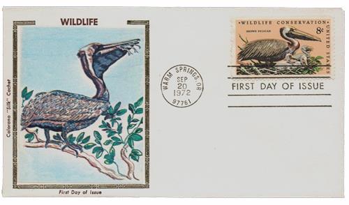 1972 8c Wildlife Conservation: Pelican