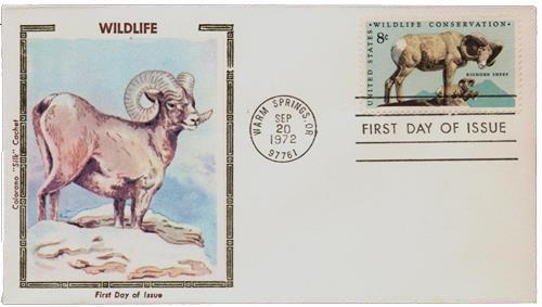 1972 8c Wildlife Conservation: Bighorn Sheep