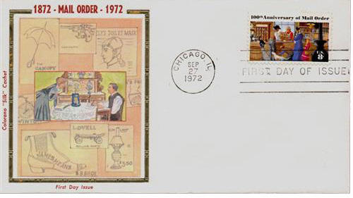 1972 8c 100th Anniversary of Mail Order