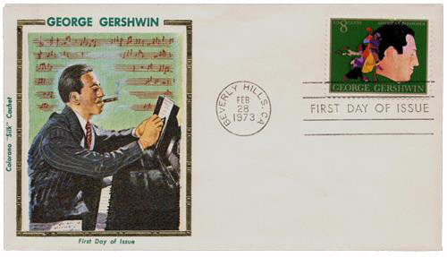 George Gershwin Musician Composer Rhaposody In Blue Music 4 Stamp Block Music Stamps