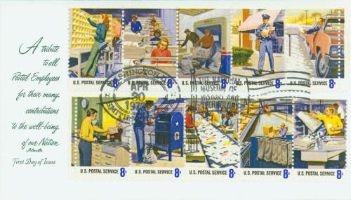 1973 8c Postal Service Employees