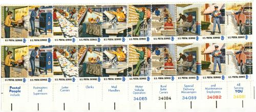 1973 8c Postal Service Employees For Sale At Mystic Stamp Company